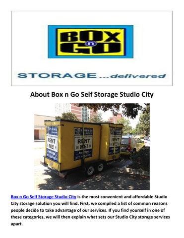 Merveilleux Box N Go Self Storage Studio City CA