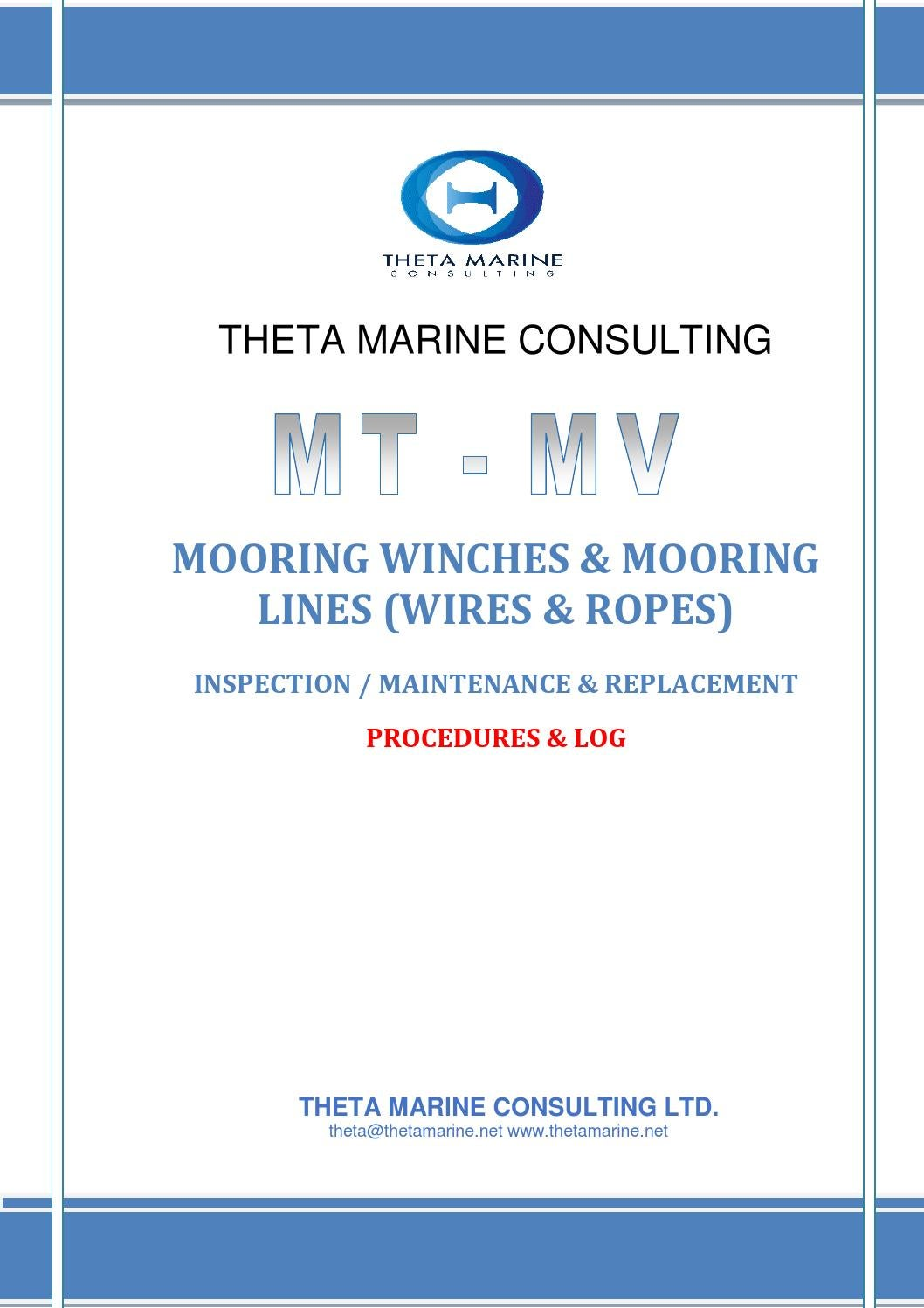Theta mooring wires ropes manual by Capt. Ioannis Theodorakas - issuu