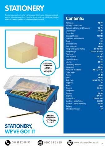 45467f1fb11 AtoZ Educational Supplies Catalogue 2015 16 - Stationery by Findel ...