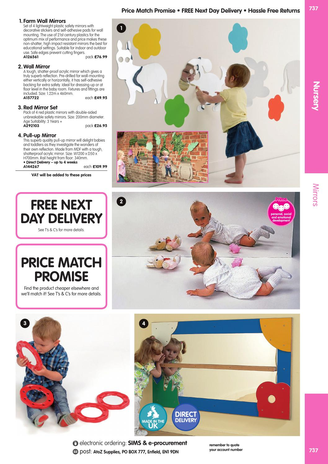 Baby Safe Wall Mirrors 2 AtoZ Educational Supplies Catalogue 2015-16 - Nursery