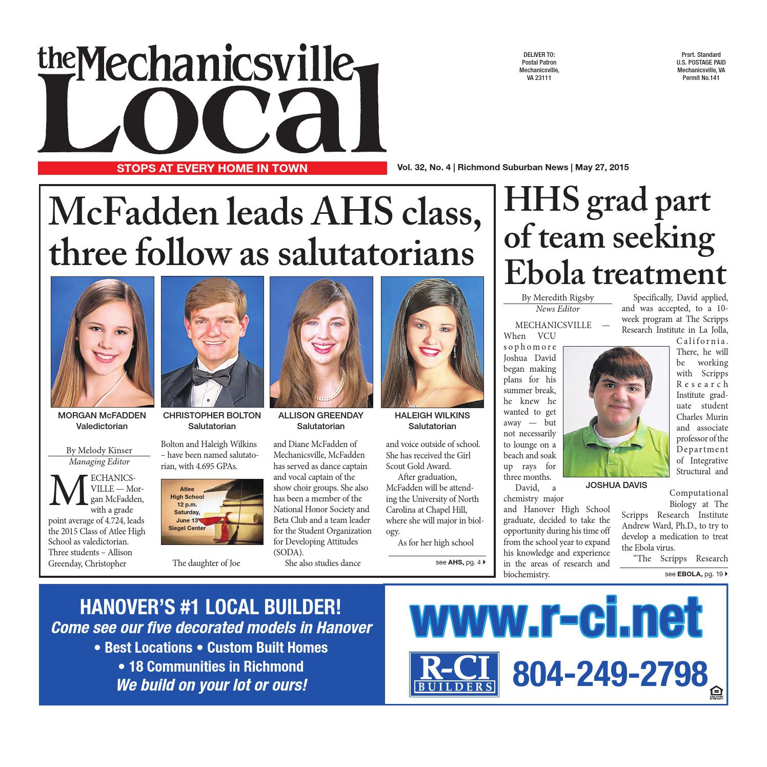 05/27/2015 by The Mechanicsville Local - issuu