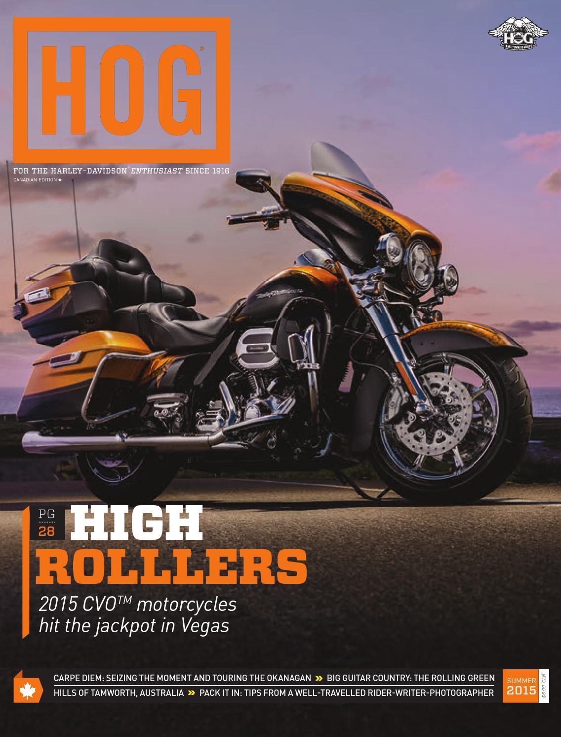 Hog Magazine Canada Ssummer 2015 By Fresh Air Productions Issuu Harley Davidson Tour Pack