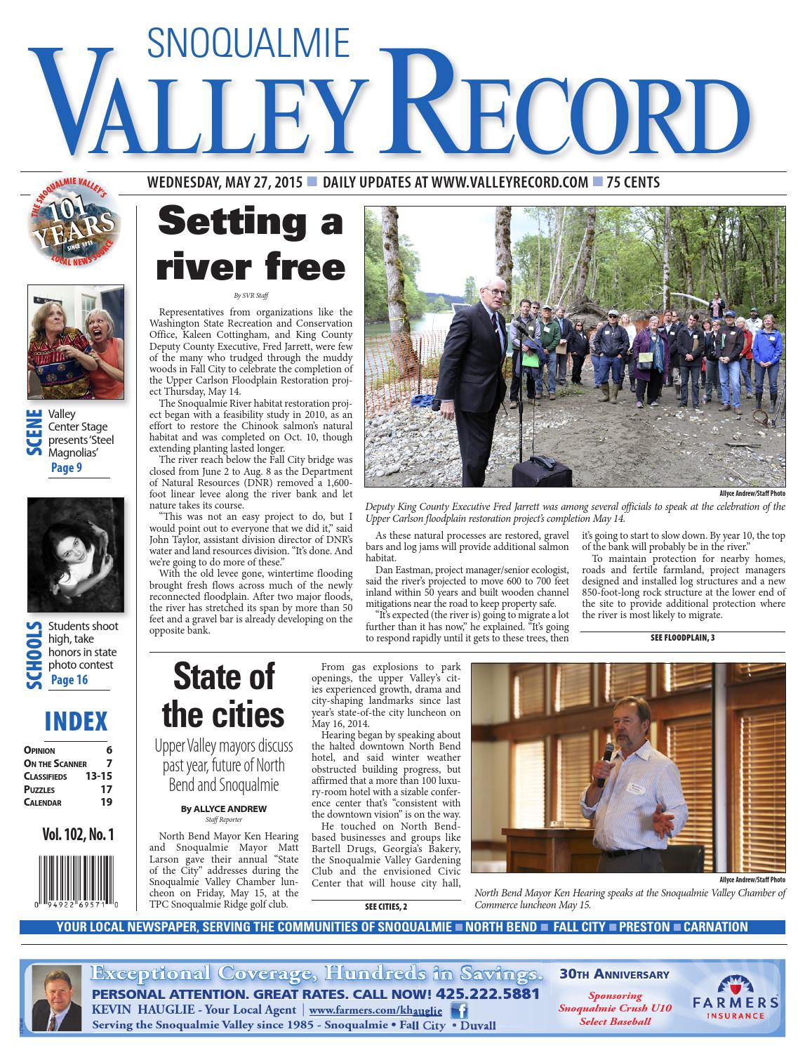Snoqualmie Valley Record, May 27, 2015 by Sound Publishing - issuu