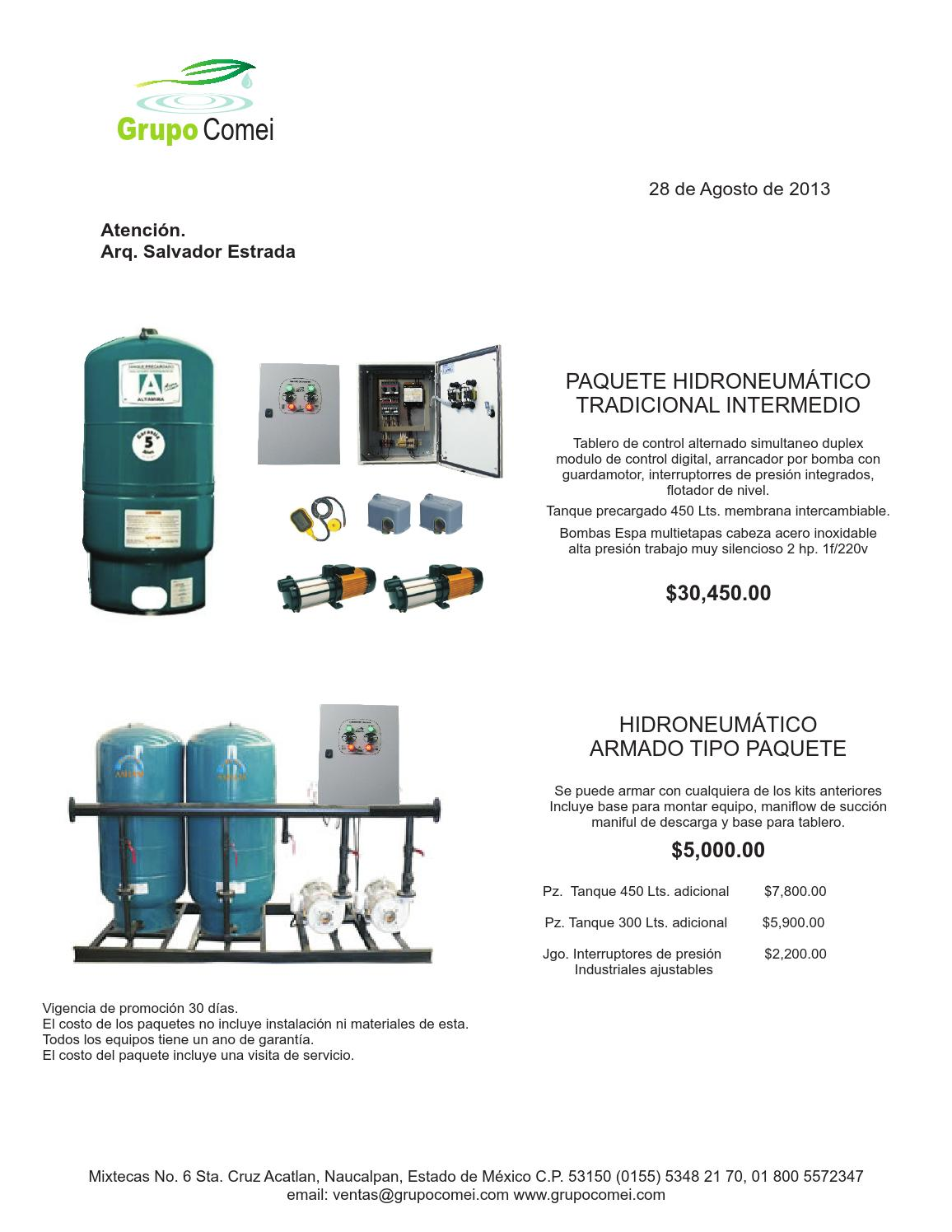 Paquetes duplex hidroneumatico by grupo comei issuu for Costo hidroneumatico