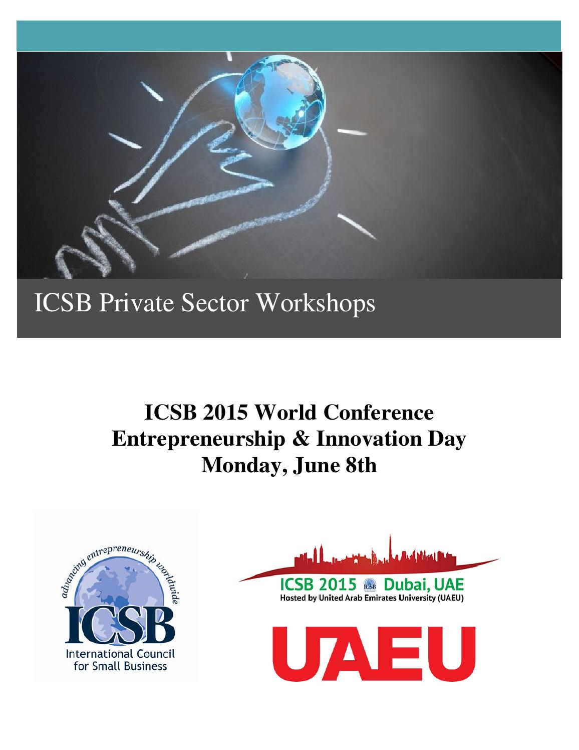 Icsb 2015 Private Sector Workshop Psw Program By Mjoudrey Issuu Electrical Engineering Plan Uaeu