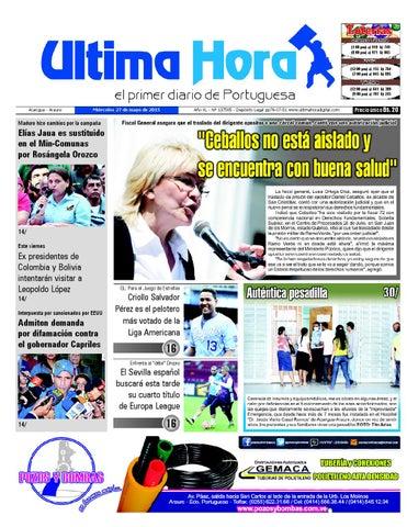 Edicion27 05 2015 by Ultima Hora - El primer diario de Portuguesa ...
