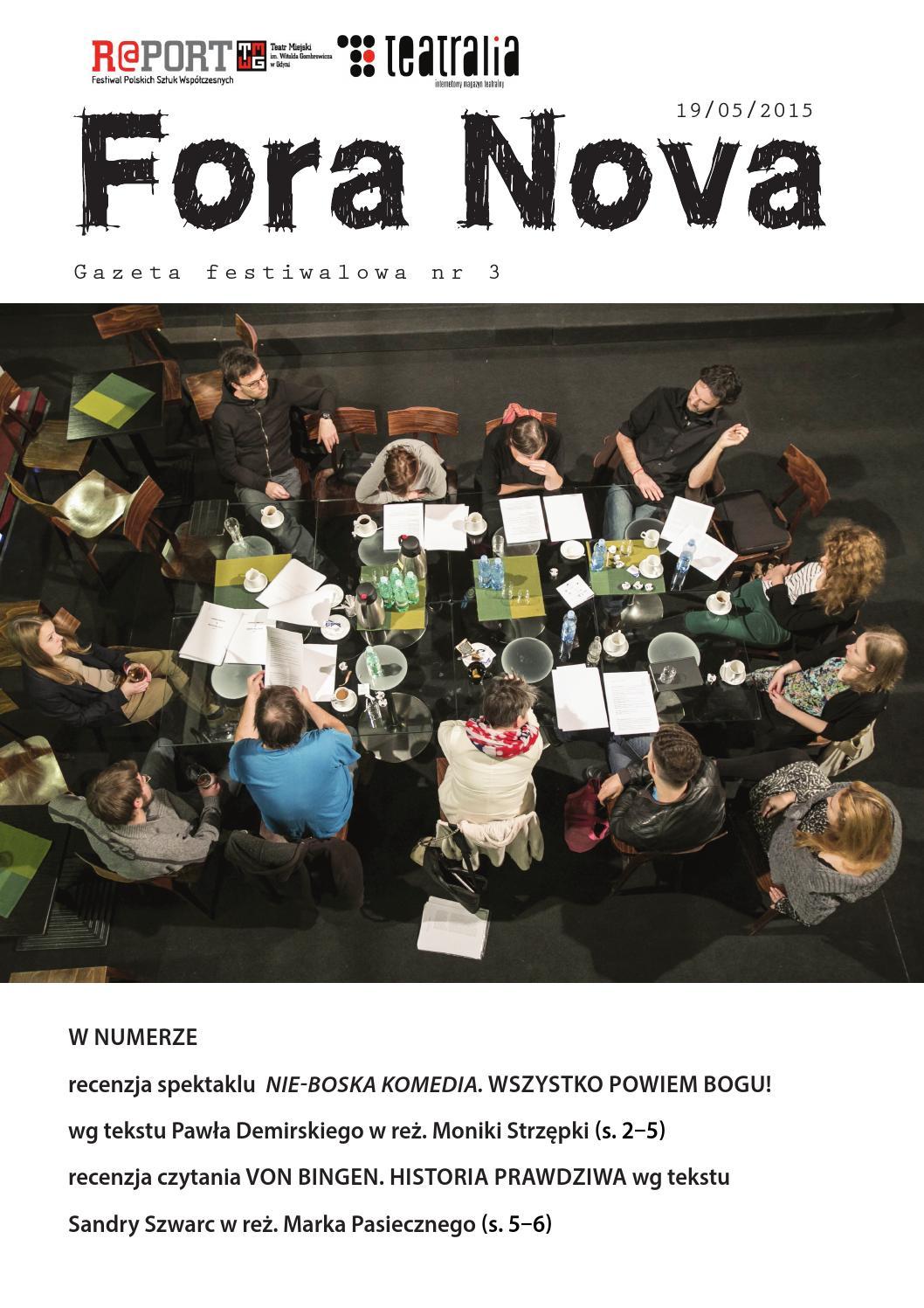 Fora Nova 2015 Nr 3 By Teatralia Magazyn Issuu