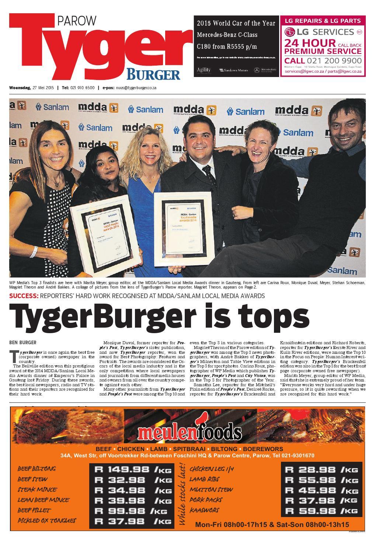 Tygerburger Parow 20150527 by Tygerburger Newspaper - issuu