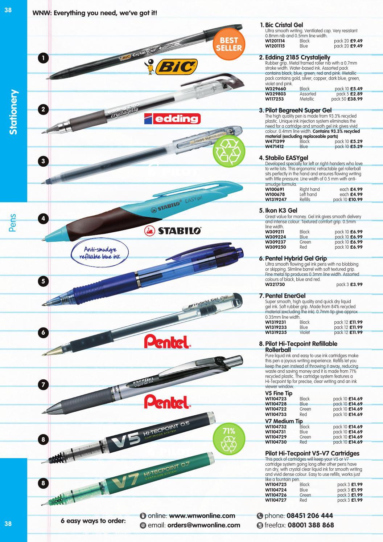 BIC Cristal V2 Rollerball Gell Pens Black Blue Super Smooth Box of 20 0.8mm