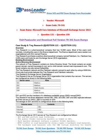Pdf exam 70-341