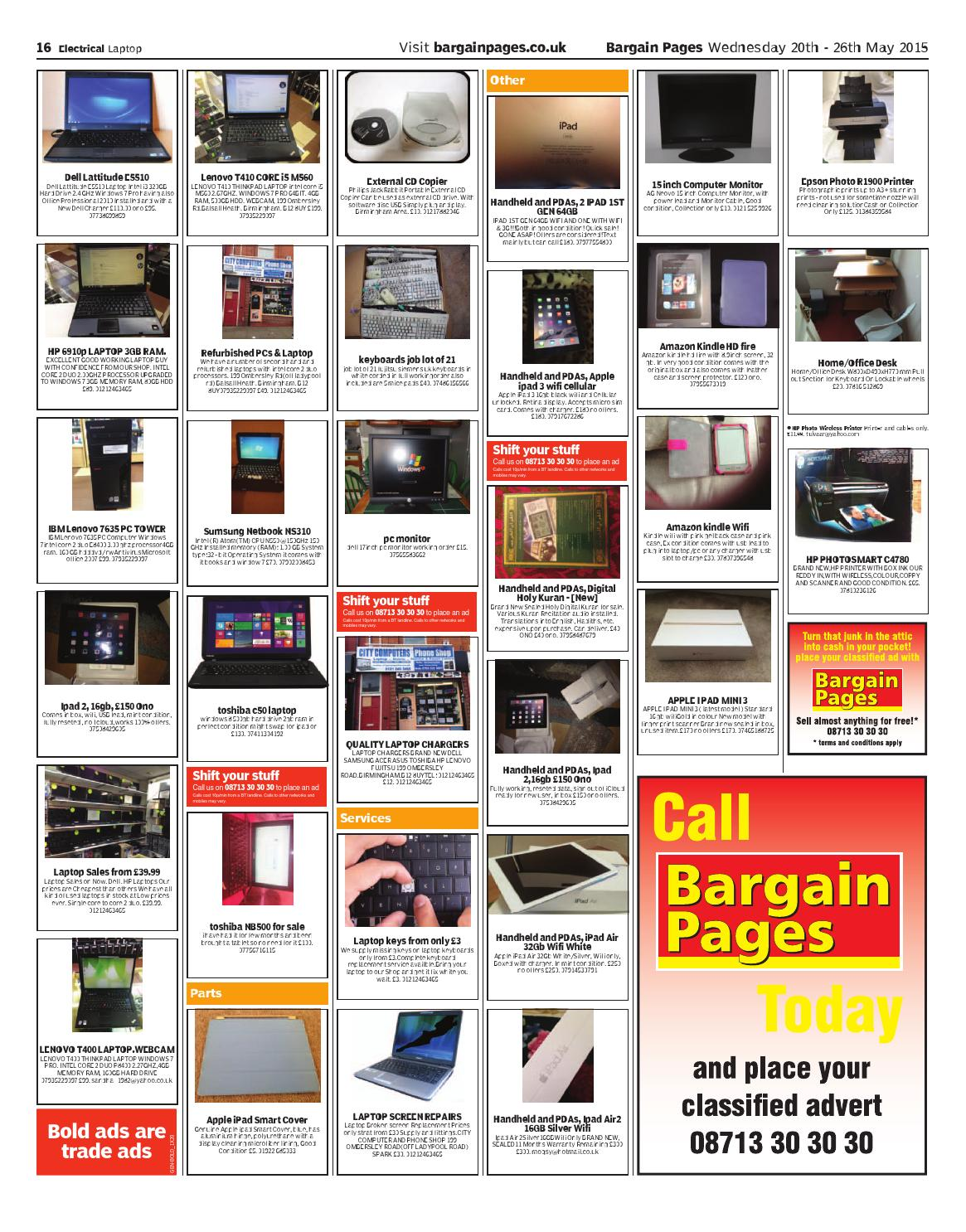 Bargain Pages Wales, May 20th 2015 by Loot - issuu
