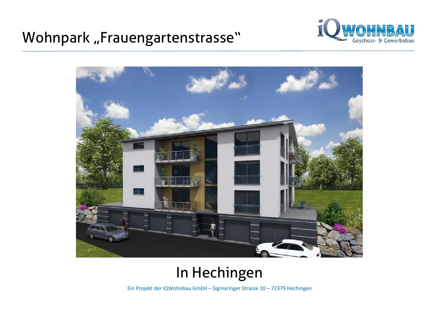 Exposé Frauengartenstrasse in Hechingen Stand 05 2015 by iQHausbau ...