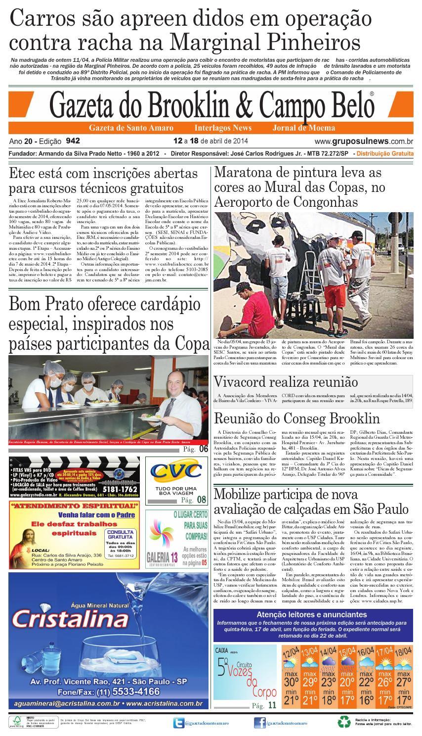 669af824a2 Edição 942 - 12 a 18 de abril de 2014 by Grupo Sul News - issuu