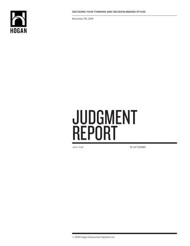 judgment report sample by psychological consultancy limited issuu