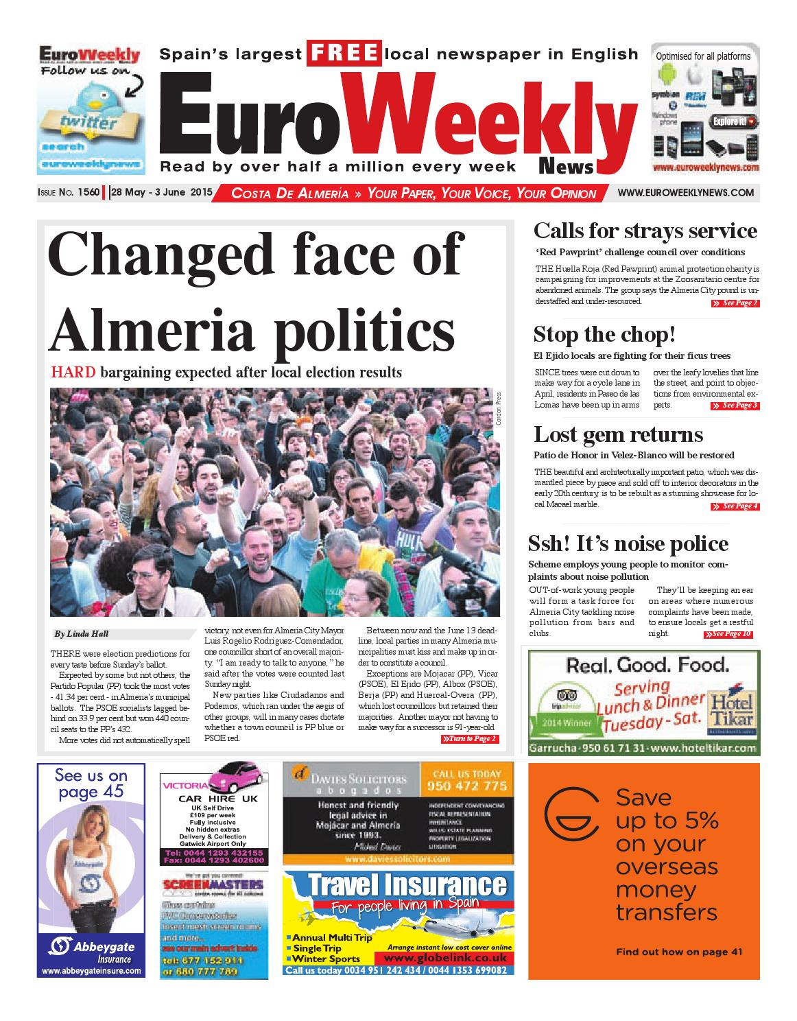Euro Weekly News Costa De Almeria 28 May 3 June 2015 Issue  # Rogelio Muebles San Rafael