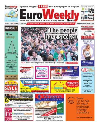 Euro Weekly News - Costa Blanca South 28 May - 3 June 2015 Issue ... f6235db3983bf
