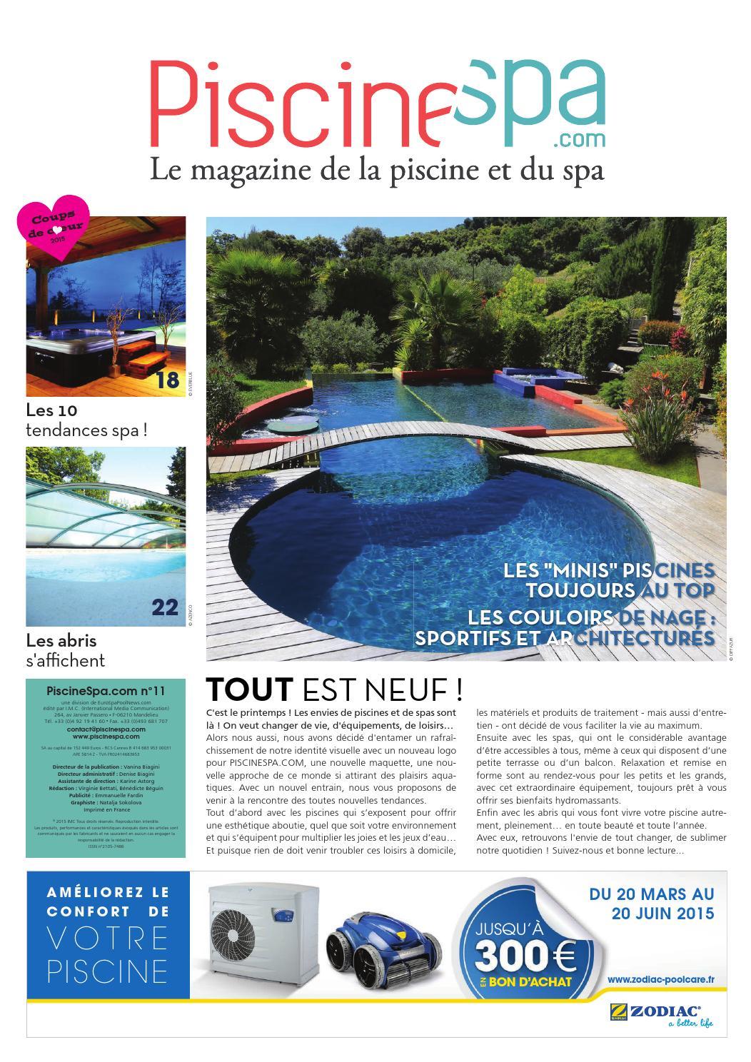 Prix Piscine Aquilus Mini Water piscinespa n°11piscinespa - issuu