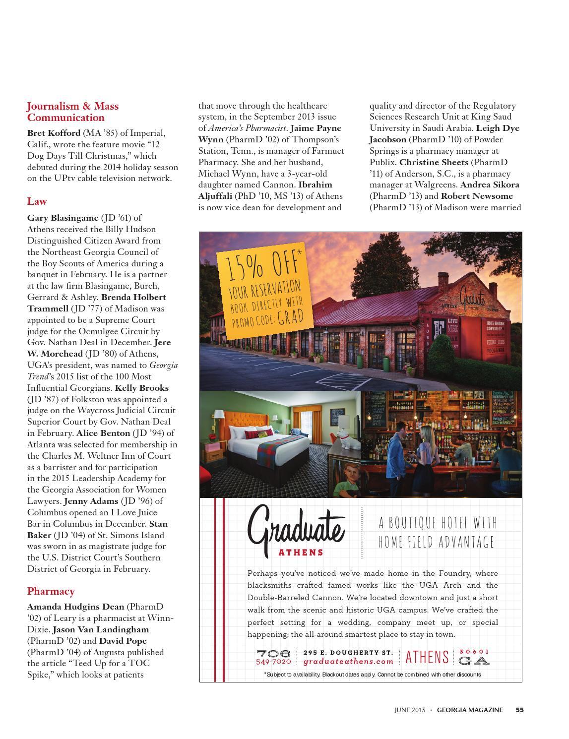 Georgia Magazine June 2015 by University of Georgia Alumni Magazine ...