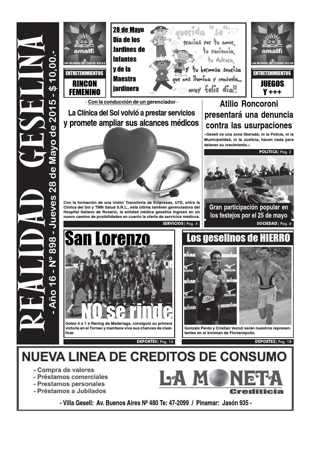 Semanario Realidad Geselina 898 by Semanario Realidad Geselina - issuu