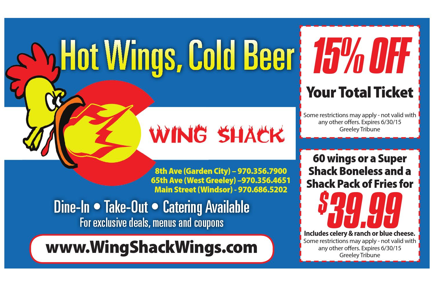 Wing Shack Coupons >> June 2015 Coupon Book By The Greeley Publishing Company Issuu