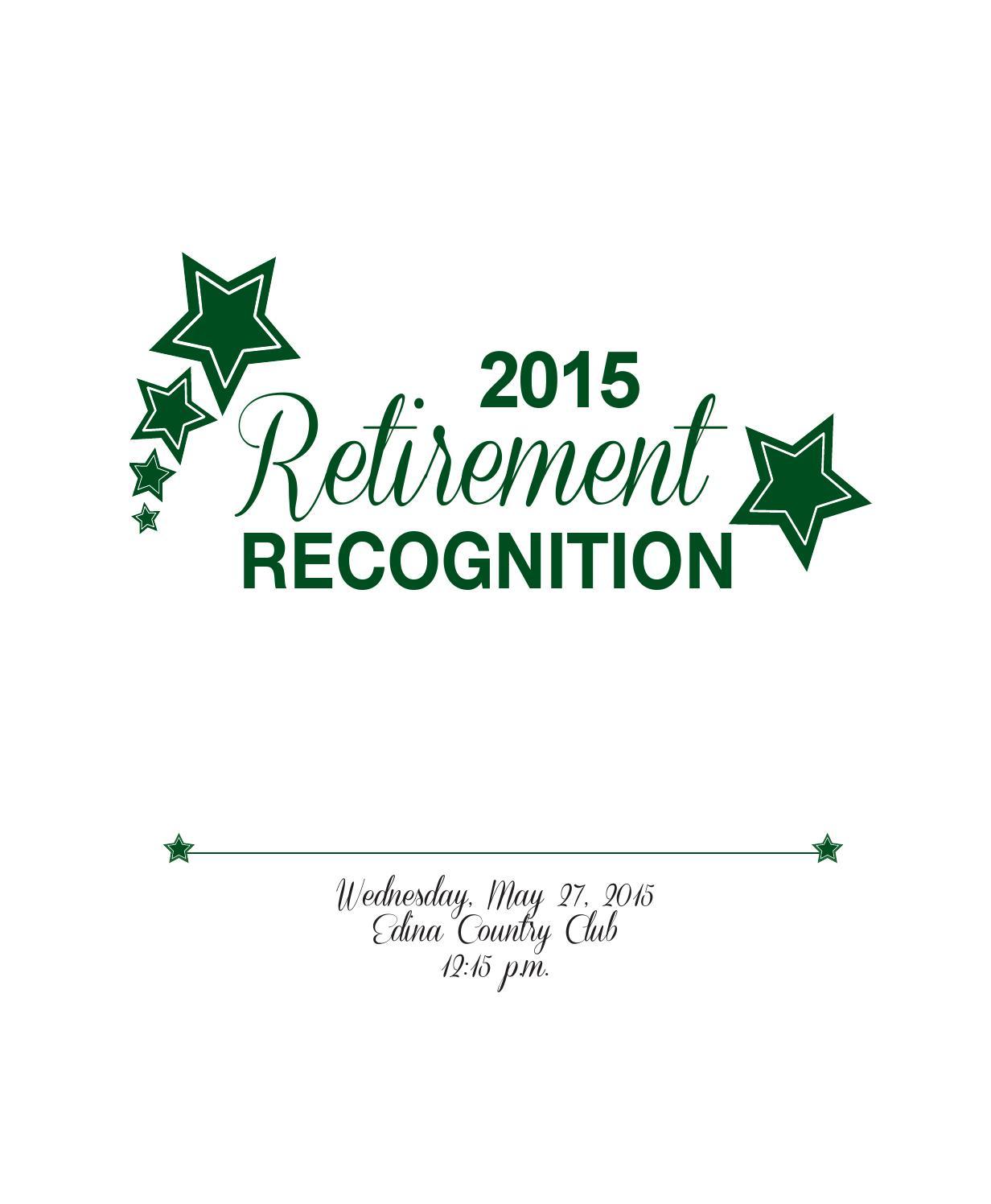 2015 Edina Public Schools Retirement Recognition By Edina Public