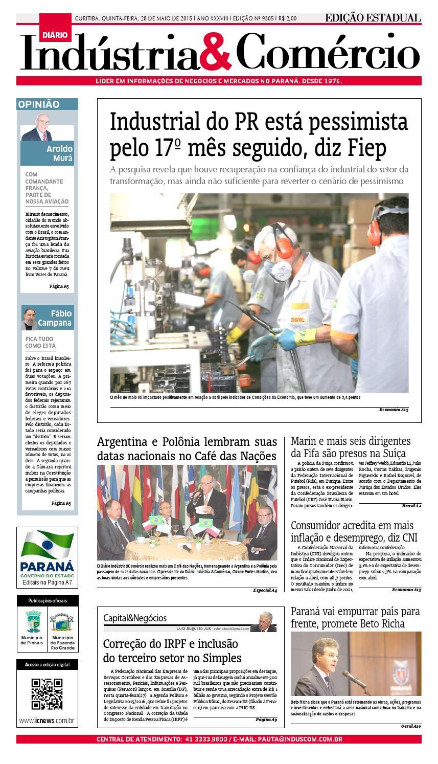 cb1a869c9c1 Diário Indústria Comércio - 28 de maio de 2015 by Diário Indústria    Comércio - issuu