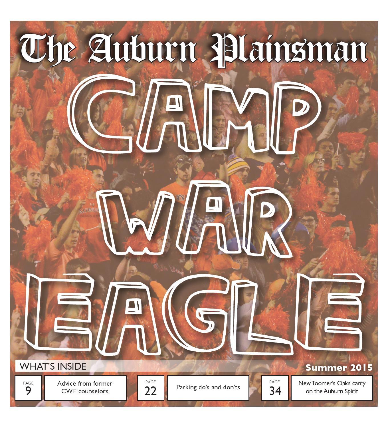 The Auburn Plainsman Camp War Eagle Summer 2015 by The