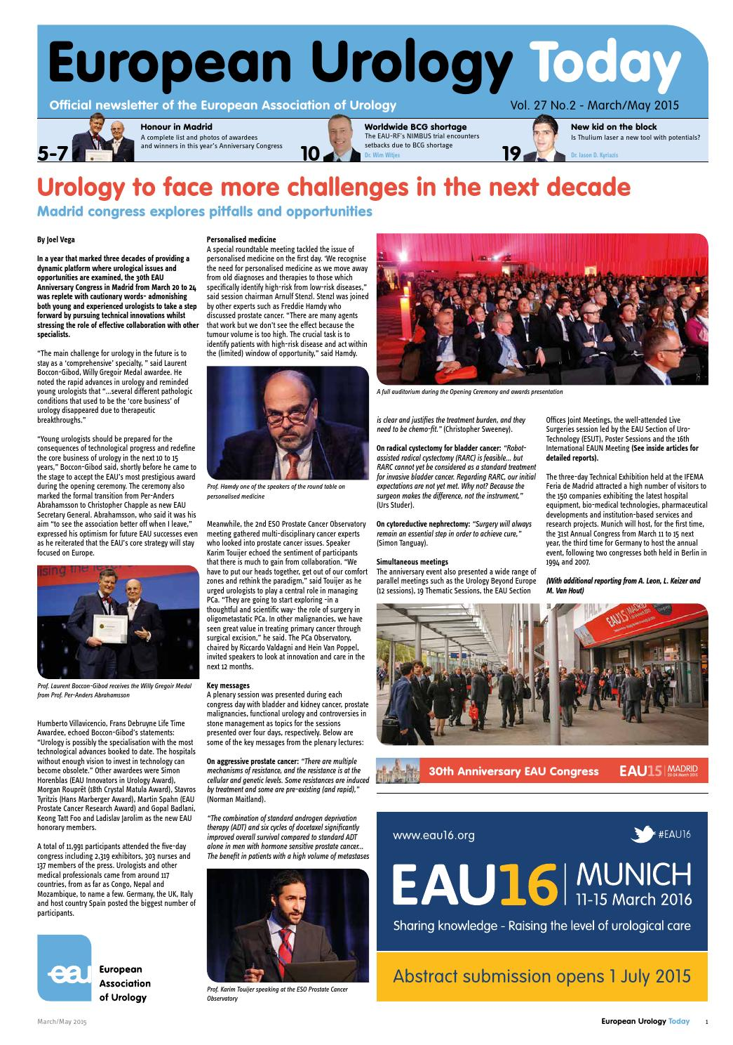 European Urology Today - Vol. 27 No.2 - March/May 2015 by ...