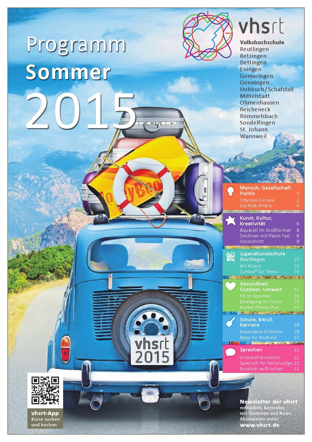 Volkshochschule Reutlingen Programm Sommer2015 By