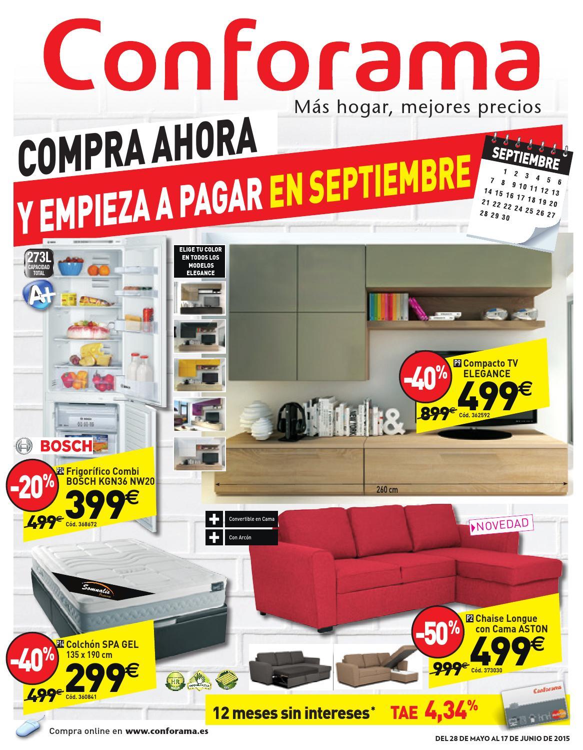 Conforama Catalogo 28mayo 27junio2015 By Catalogopromociones Com  # Muebles Comedor Conforama