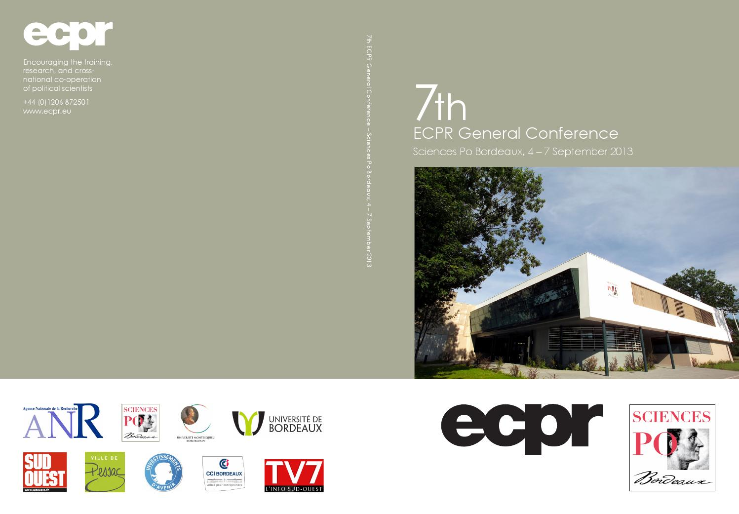 82a57552464a 2013 ecpr bordeaux general conference programme by ECPR - issuu