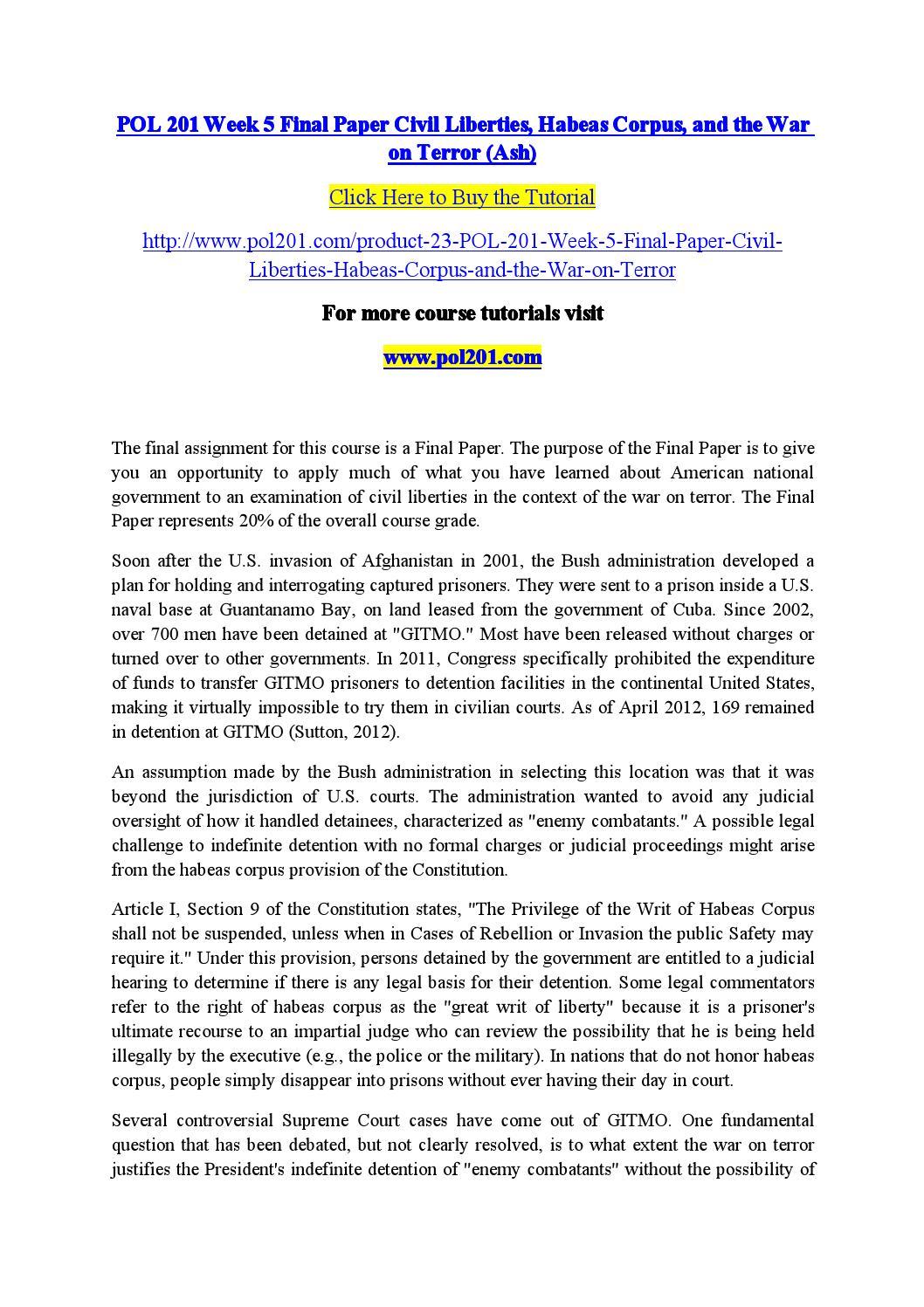 habeas corpus india
