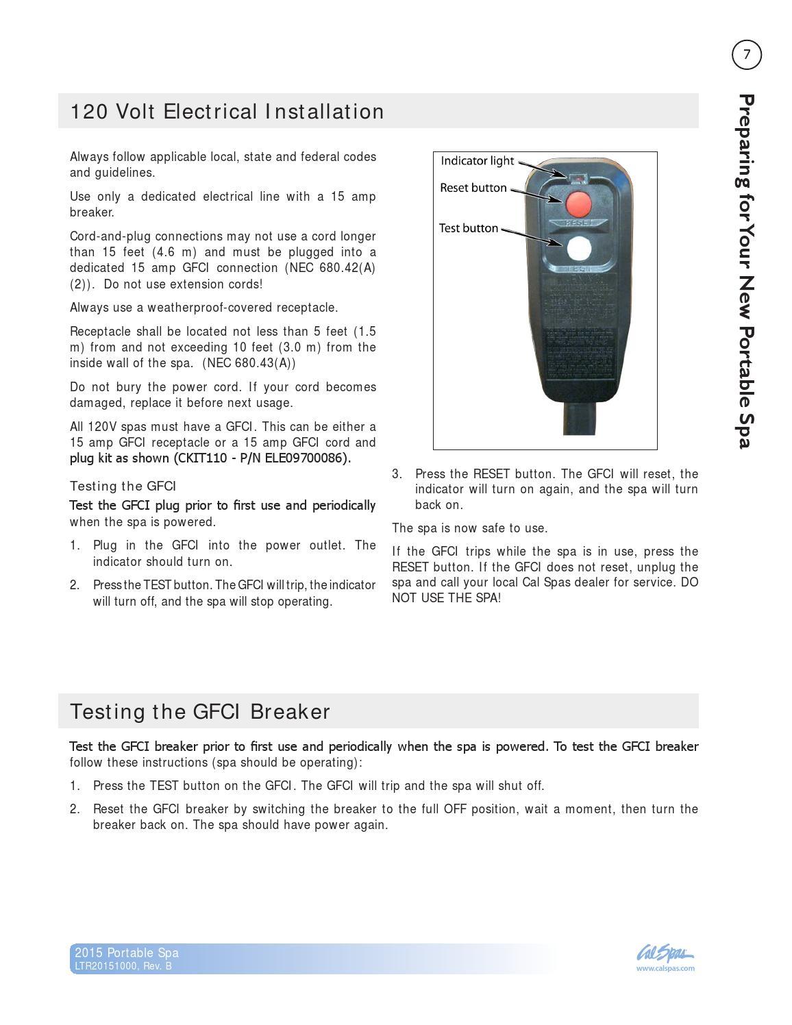 2015 Spa Owner's Manual