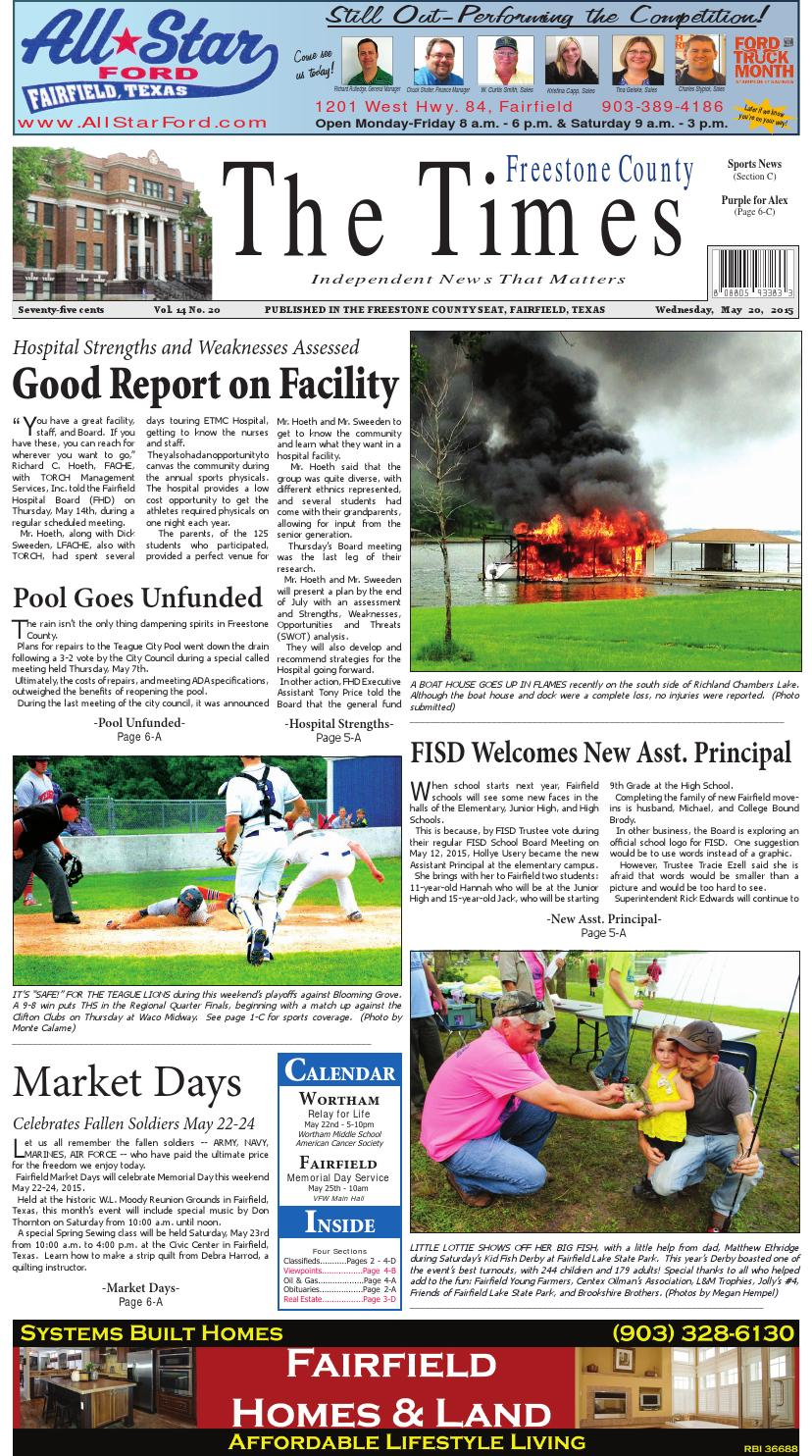 Freestonecountytimes052015 By Karen Leidy