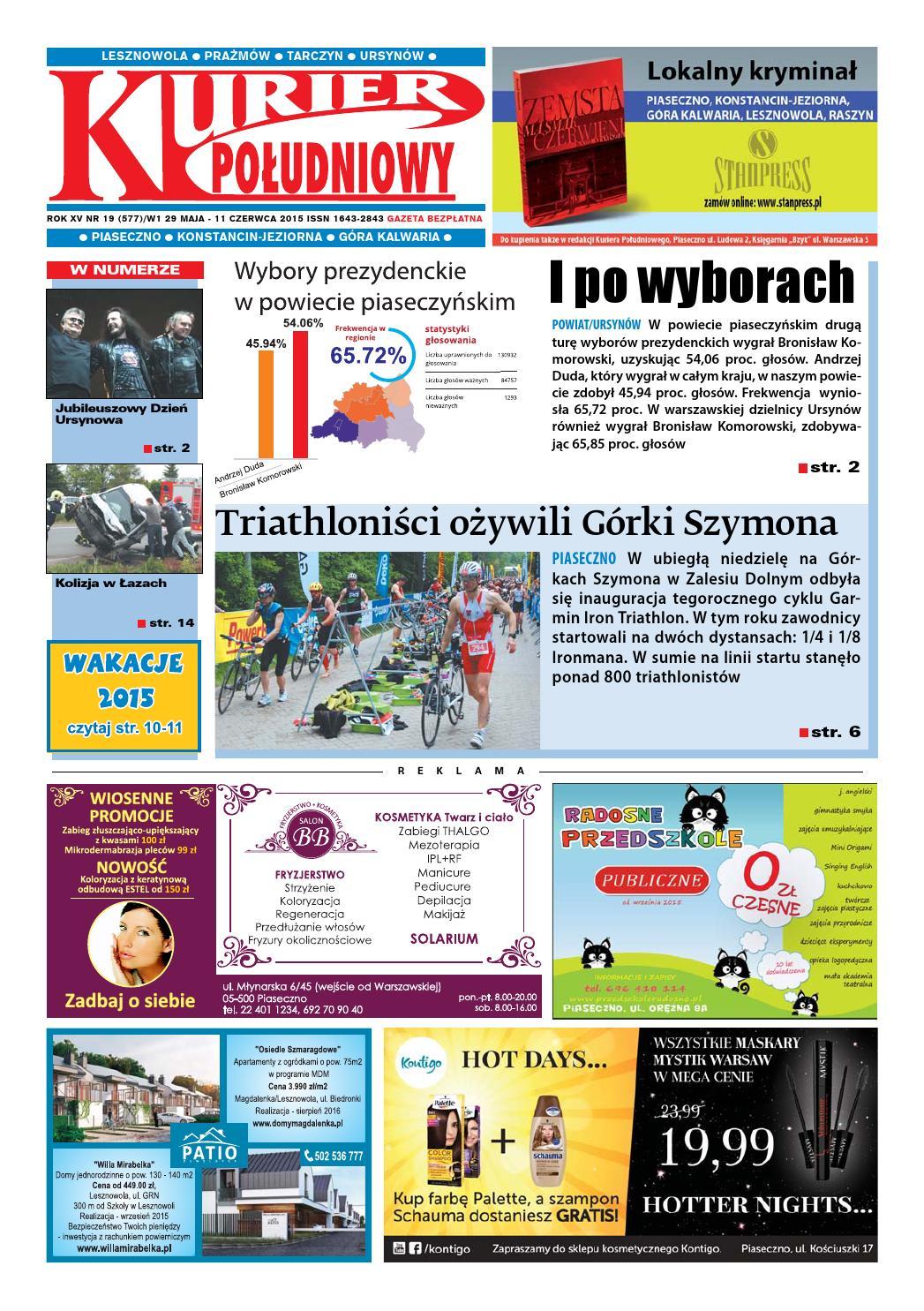 642a05bcc762f0 Kurier Południowy 19 (577) - wydanie piaseczyńsko-ursynowskie, 29 maja 2015  by Kurier Południowy - issuu