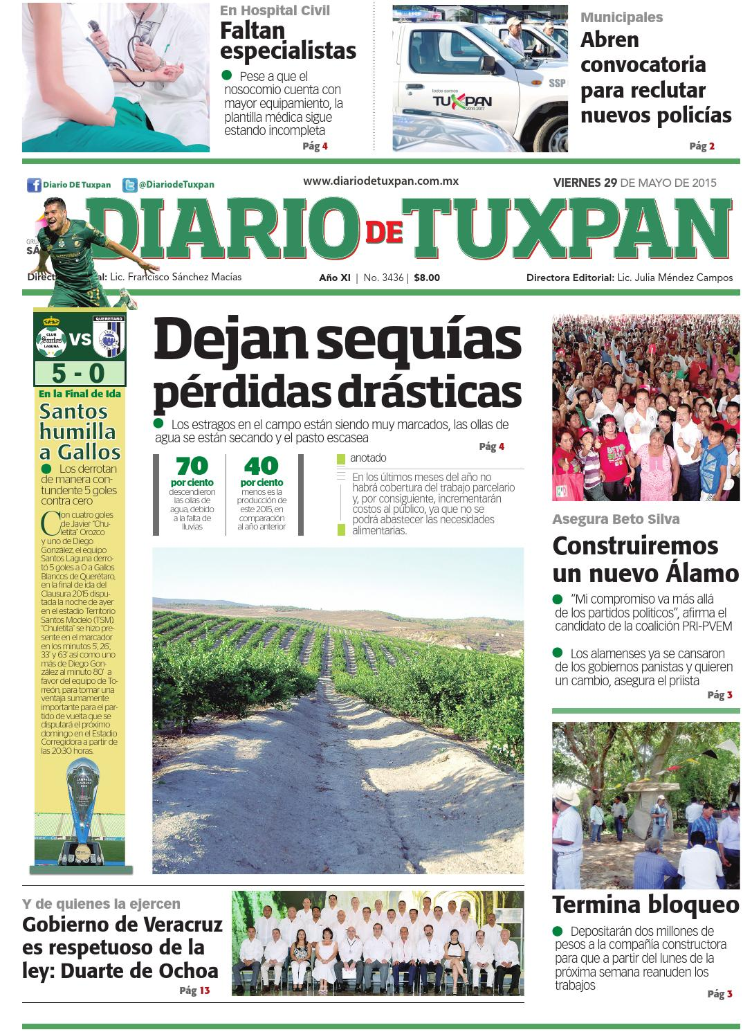 Diario de Tuxpan 29 de Mayo de 2015 by DIARIO DE TUXPAN - issuu
