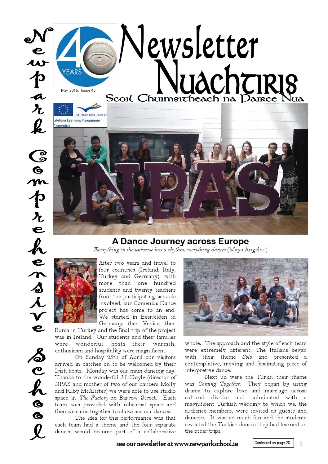 Newpark Newsletter May 2015 By Newpark Newsletter Issuu