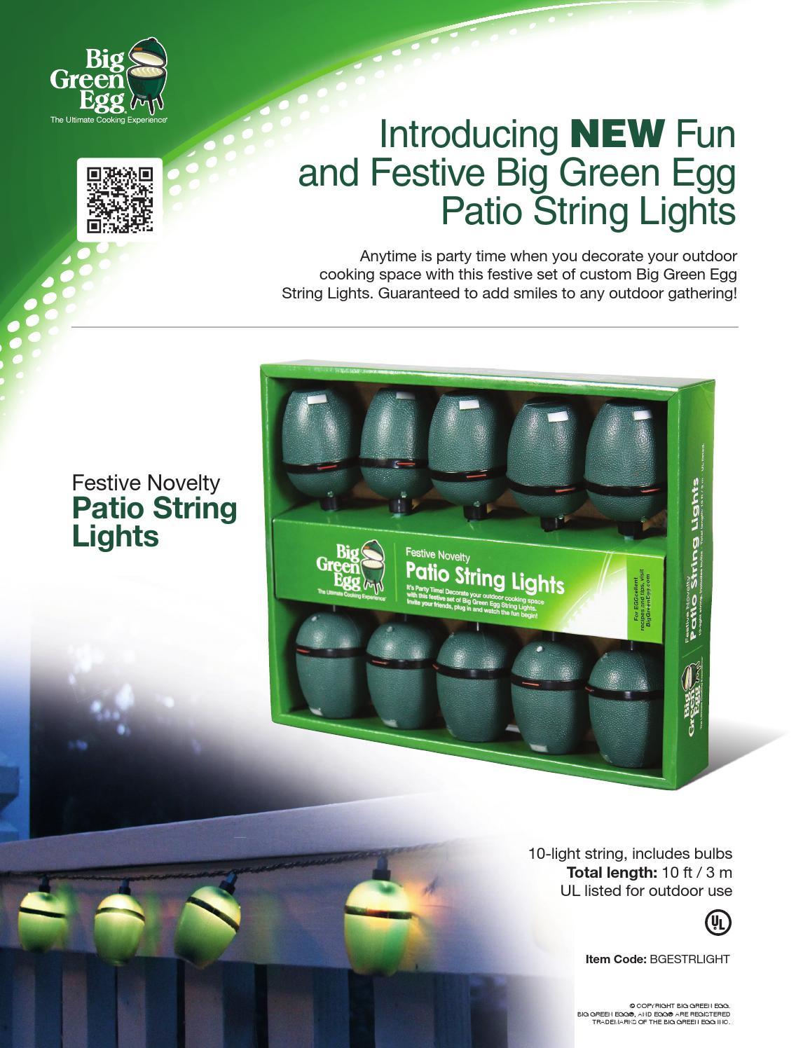 Bge Sellsheet Stringlights By Big Green Egg Issuu