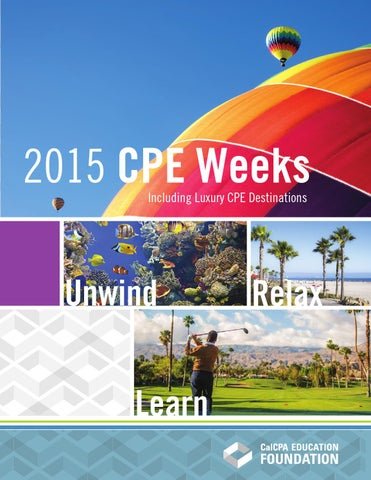 CalCPA CPE Weeks 2015 by CalCPA and CalCPA Education
