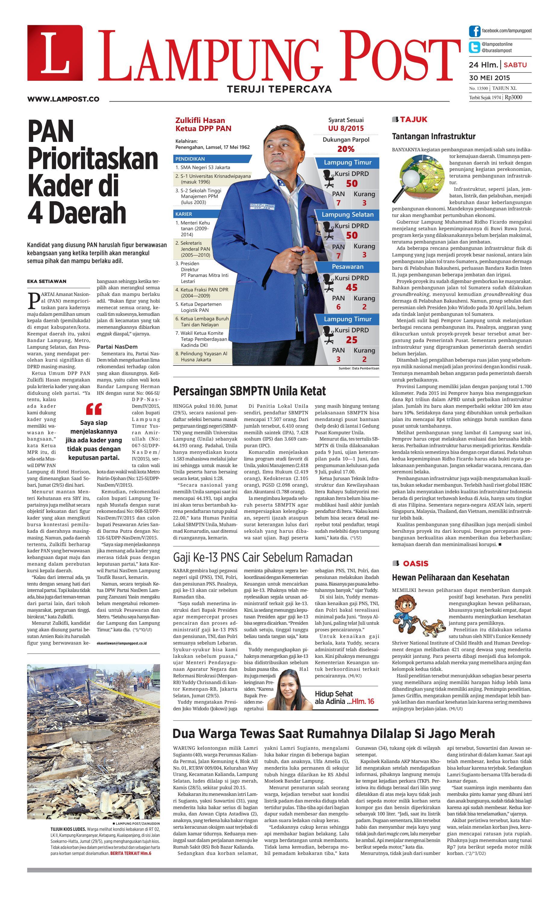 Lampung Post Sabtu 30 Mei 2015 By Issuu Produk Ukm Bumn Sulam Usus Pmk