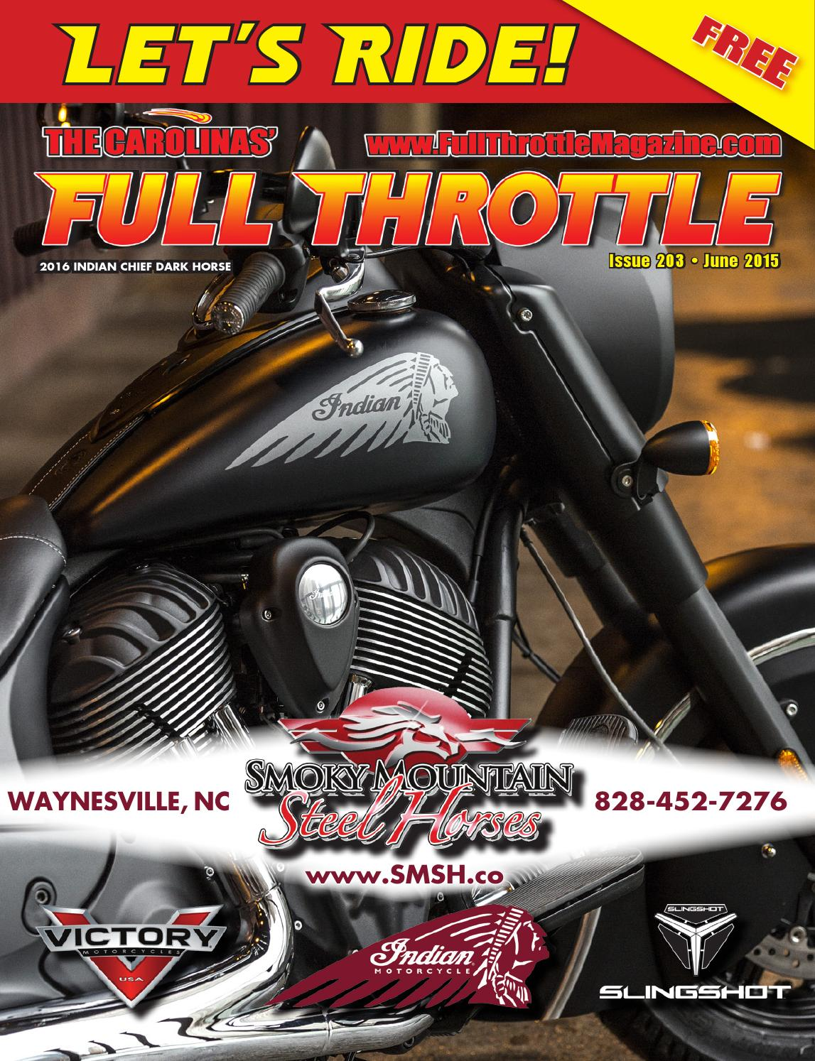 June 2015 issue 203 by the carolinas 39 full throttle - Cruisin carolina magazine ...