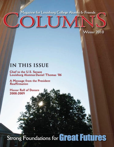 Columns Winter 2010 By Louisburg College Issuu