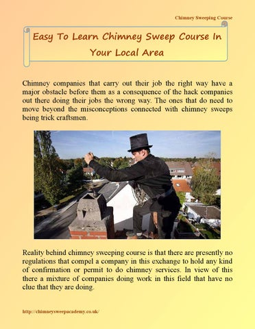 Easy To Learn Chimney Sweep Course In Your Local Area By