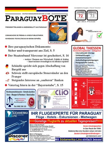 ParaguayBote Ausgabe/Edición 72 by Diario alemán ParaguayBote - issuu