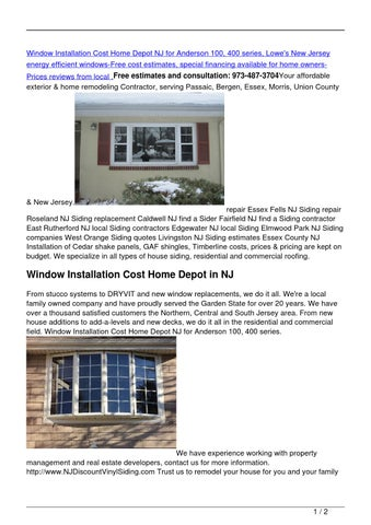 window installation cost home depot window blinds window installation cost home depot nj for anderson 100 400 series lowes new jersey energy efficient windowsfree cost estimates special financing by vinyl shakes issuu