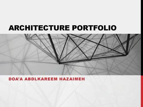 Portfolio Doaa Hazaimeh By Doa A Hazaymeh Issuu