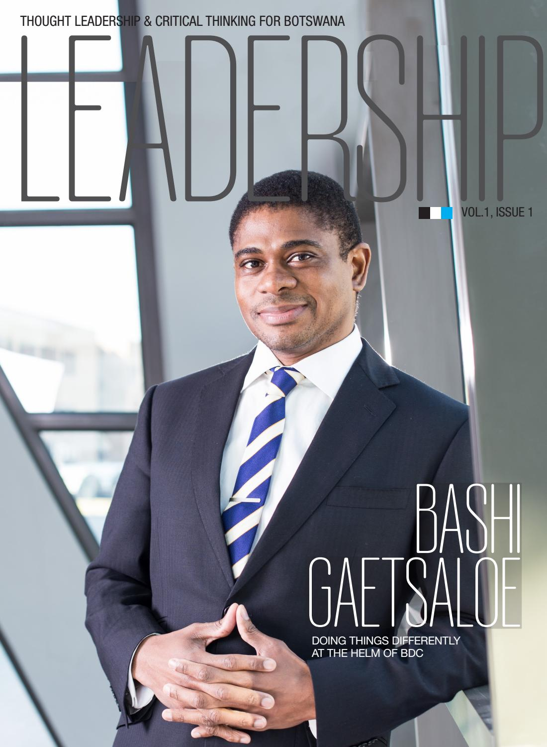 Leadership Botswana - Volume 01/01 2015 by Sven Boermeester