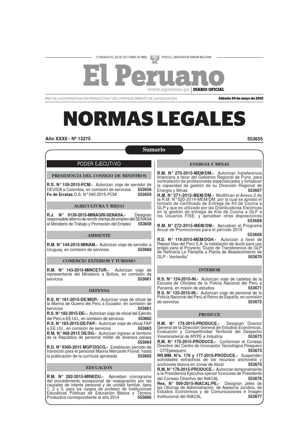 BOLETIN DEL DIARIO OFICIAL 30 05 2015 by Gaceta Juridica - issuu
