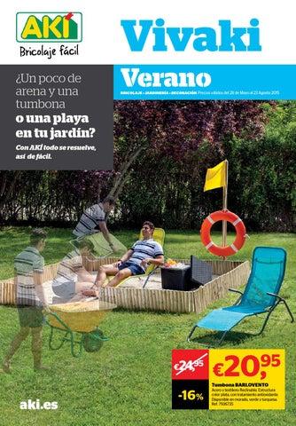 Vivaki verano castellano by losdescuentos issuu - Tumbonas aki ...