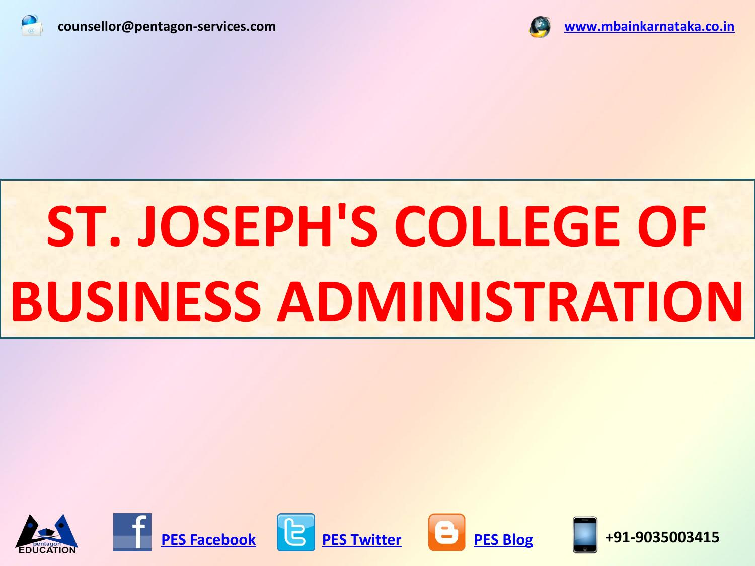 ST  JOSEPH'S COLLEGE OF BUSINESS ADMINISTRATION